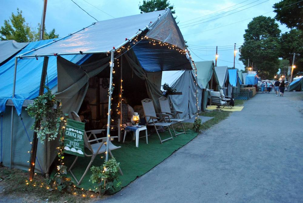 The famous tent city at the Centre County Grange Fair where generations of families compete for spaces.