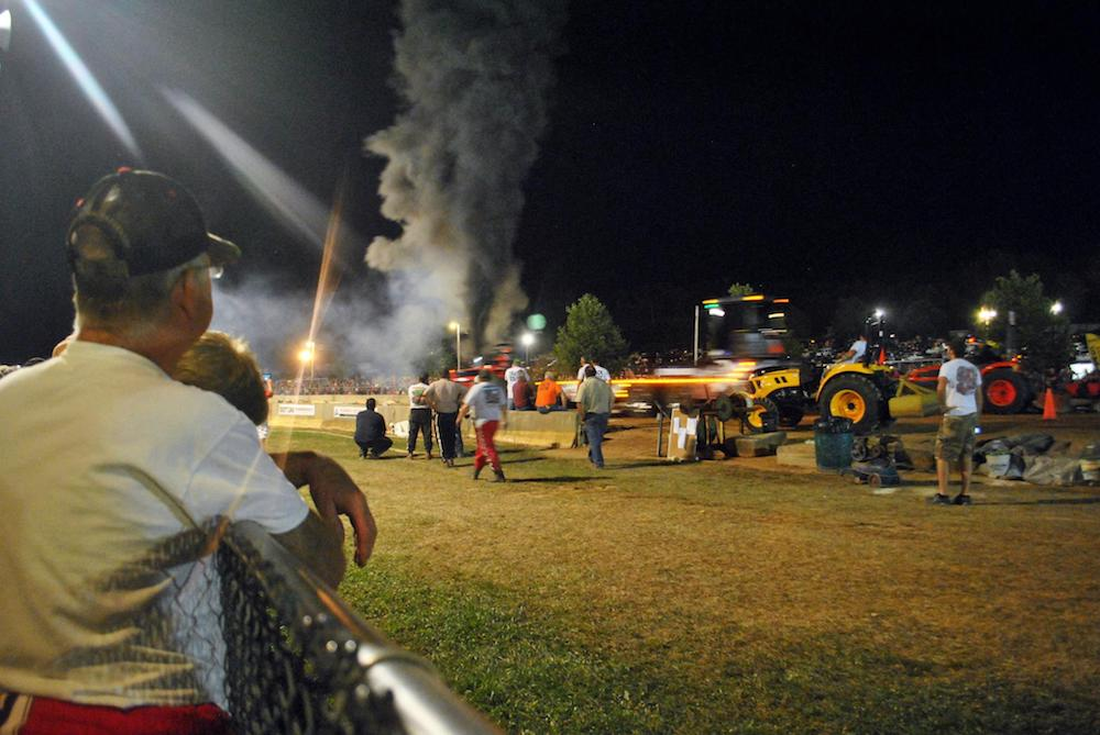 Tractor pulling contest at the Centre County Grange Fair in Central Hall, PA. #travel #Americana