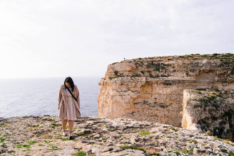 Girl wearing and Emily and Fin Dress in Malta. Read tips for attending the Emily and Fin sample sale in London, the best Emily and Fin sale of the year.