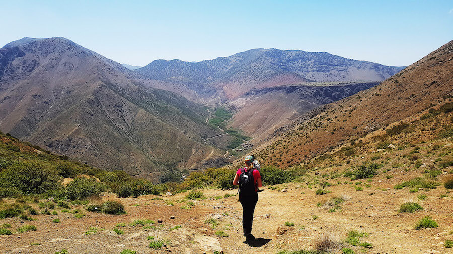 Girl hiking in Morocco. Read where to go hiking in Morocco in this off the beaten path guide to Morocco! #travel #morocco