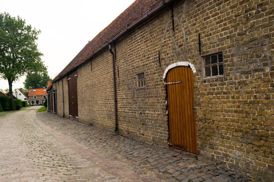 Beautiful 17th century building in the Dutch town of Sint Anna ter Muiden