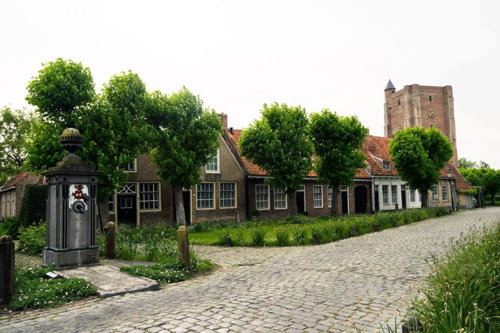 Beautiful town center of Sint Anna ter Muiden, one of the most beautiful towns in Zeeland, an off the beaten path destination in the Netherlands. #travel #netherlands #nederland