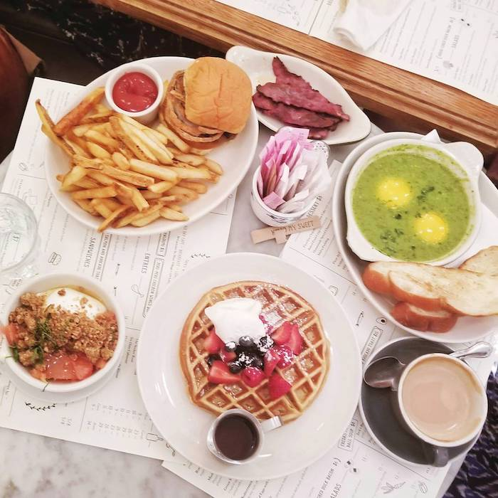 Jack's Wife Freda, one of the best brunch places in New York City. Read insider tips for the best food in New York City by New Yorkers in this guide to brunch in NYC focused on Manhattan (Tribeca/Chelsea). #travel #Manhattan #Tribeca #NYC