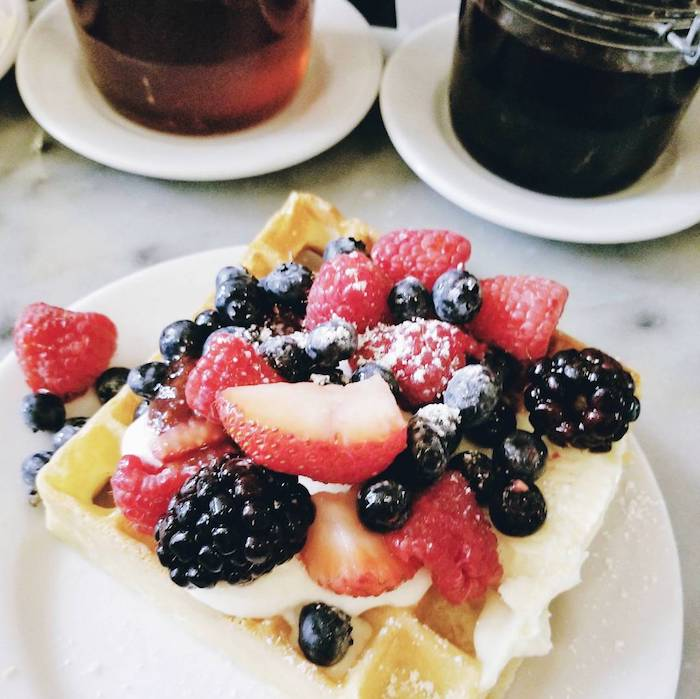 Brunch at Buvette, one of the best brunch places in Manhattan. Read your guide to the best NYC brunch places written by New Yorkers. #travel #NYC #Brunch #Manhattan