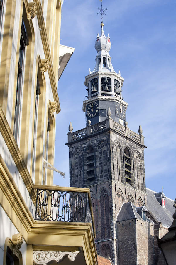 Sint-Janskerk, one of the most beautiful churches in the Netherlands, is located in Gouda. Gouda is the perfect day trip from Amsterdam! #travel #gouda #netherlands #holland
