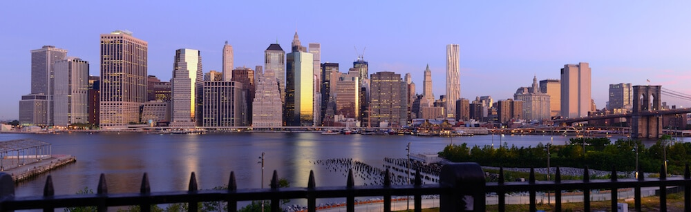 Skyline of Manhattan taken from the Brooklyn Promenade in Brooklyn Heights. #travel #Brooklyn #NYC #Manhattan