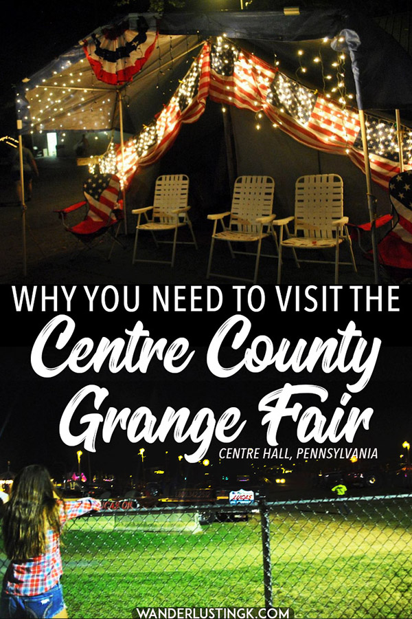 Americana lovers need to visit the Centre County Grange Fair, one of the best things to do in Central Pennsylvania (near State College). This annual fair in Centre Hall is one of the last remaining agricultural encampment fairs in the United States. #Americana #CentralPA #Pennsylvania #USA #CentreCounty #travel