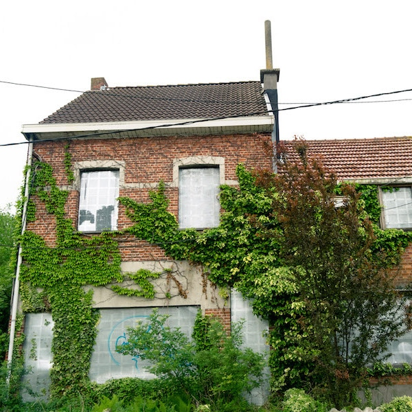 Abandoned house in Doel, Belgium. Read this article about Doel, Belgium if you're considering visiting the ghost town of Belgium. #travel #belgium #doel #abandonedplaces