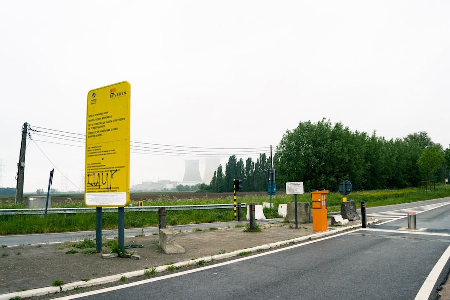Entry sign to Doel, Belgium.
