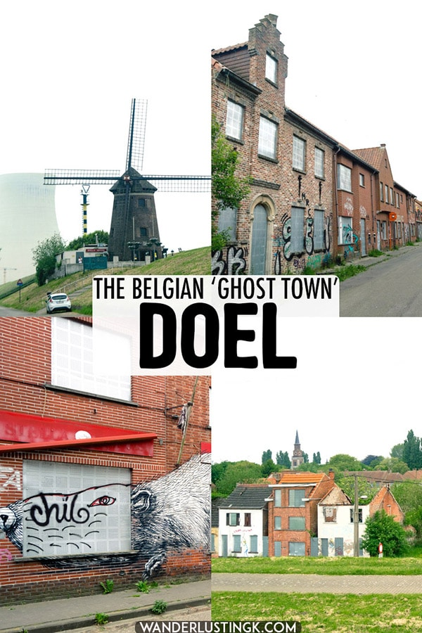 Interested in the Belgian ghost town of Doel? What to expect from visiting the abandoned town of Doel, Belgium. #travel #streetart #doel #Belgium #abandonedplaces #vlanders