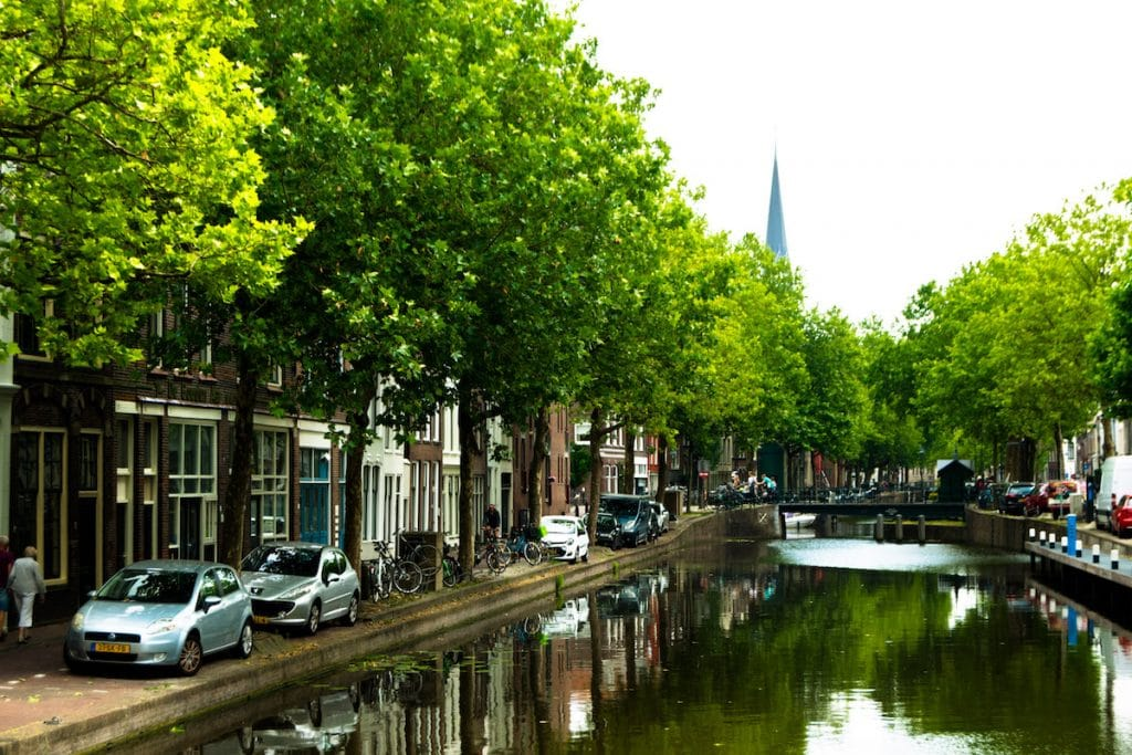 Hoge Gouwe, one of the canals in Gouda, Holland. #travel #holland #gouda #netherlands