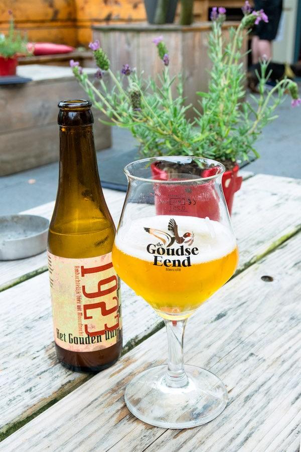 Beer at one of the best beer bars in Gouda, De Goudse Eend. #craftbeer #travel #gouda