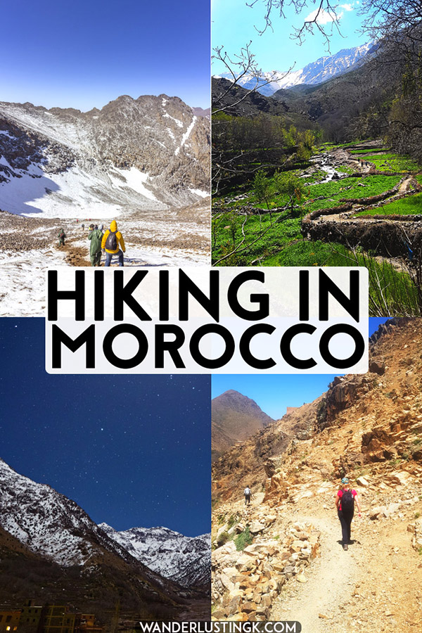 Your guide to hiking in Morocco, focused on hiking near Imlil, a village in the High Atlas Mountains of Morocco #travel #Morocco #hiking #Maroc