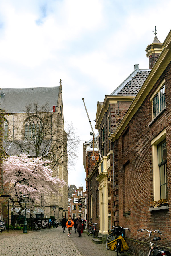 Pieterskwartier, one of the prettiest parts of Leiden. Leiden is the perfect day trip from Amsterdam for history lovers! #travel #leiden #holland #netherlands