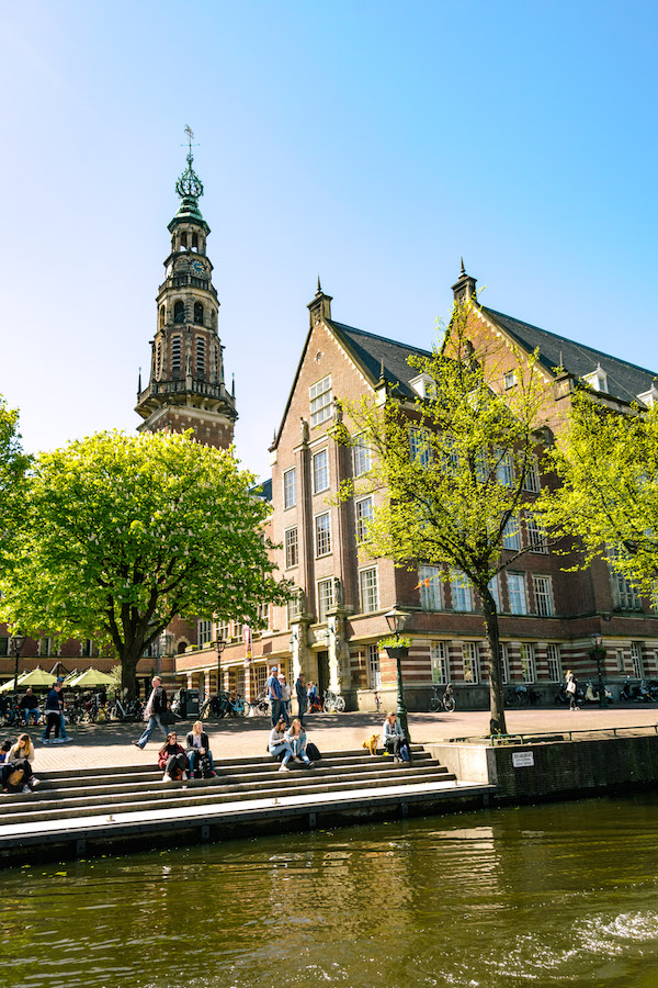 Leiden city hall, one of the most beautiful in the Netherlands. Read why you must take a day trip from Amsterdam to Leiden! #travel #netherlands #leiden #holland #nederland