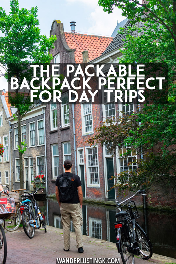 Looking for a packable backpack perfect for a day trip? Read a review of the Tortuga Setout Packable Backpack, a foldable backpack perfect for city trips! #travel #packing
