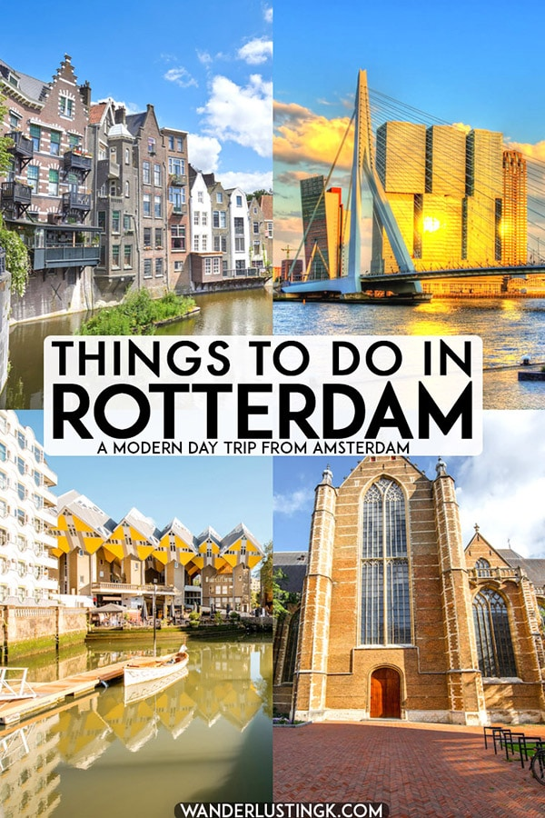 Planning to visit Rotterdam? Your perfect one day guide to Rotterdam with the best things to do in Rotterdam that you can do within one day! #travel #rotterdam #holland #netherlands