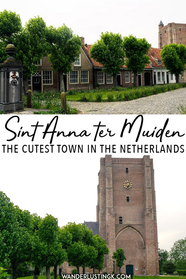 Looking for an off the beaten path destination in the Netherlands? Consider visiting Sint Anna ter Muiden, the smallest town in the Netherlands. This cute Dutch town is the most western point in the Netherlands and an day trip from Bruges or Vlissingen! #travel #Netherlands #Nederland #zeeland