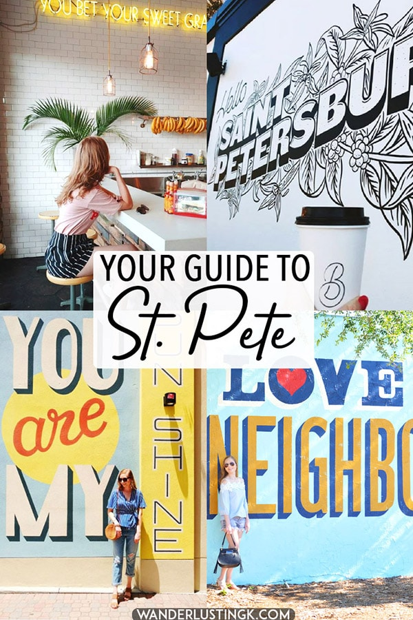 Planning your trip to St. Pete, Florida? Your guide to St. Petersburg by a local, including the best things to do in St. Pete and the best restaurants in St. Petersburg! #travel #florida #USA