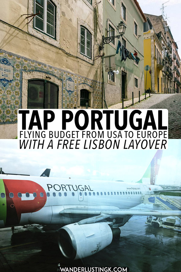 A complete airline review of flying with TAP Portugal from the US to Europe with a free Lisbon Layover. If you're looking for a cheap flight to Europe, definitely try out TAP Portugal if you're flying out of JFK. #travel #airlines #portugal #lisbon