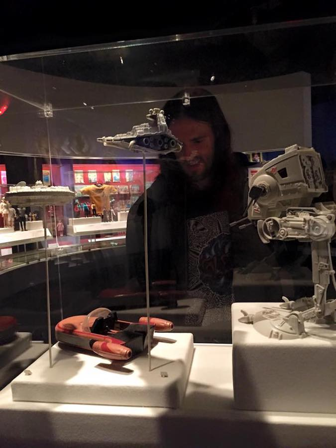 Man admiring Star Wars props at the Museum of Moving Image in Astoria, Queens. #starwars #NYC #Queens