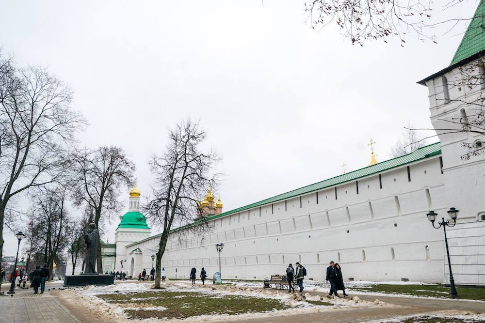 Exterior of the monastery at Sergiev Posad, one of the most famous Russian monasteries #russia