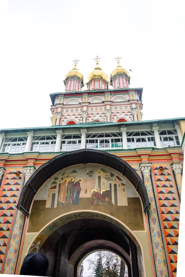 Beautiful entrance to The Trinity Lavra of St. Sergius, a beautiful historic monastery in Russia. #russia