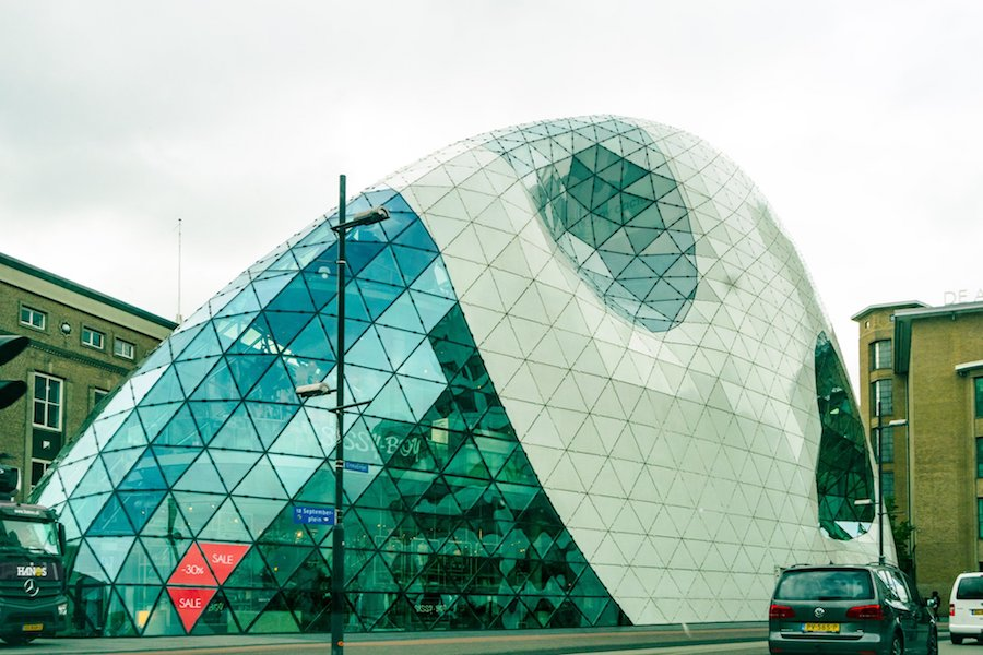 Interesting architectural piece in Eindhoven, the Netherlands. This modern Dutch city is perfect for a day trip. #eindhoven