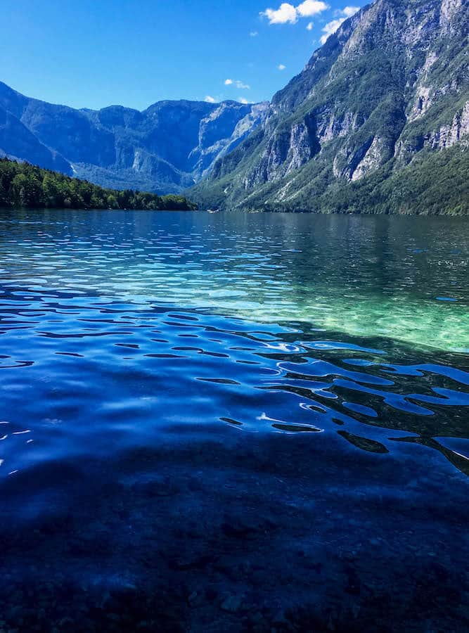 The stunning lake Bohinj, one of secret places in Slovenia that you'll want to visit! #slovenia #europe