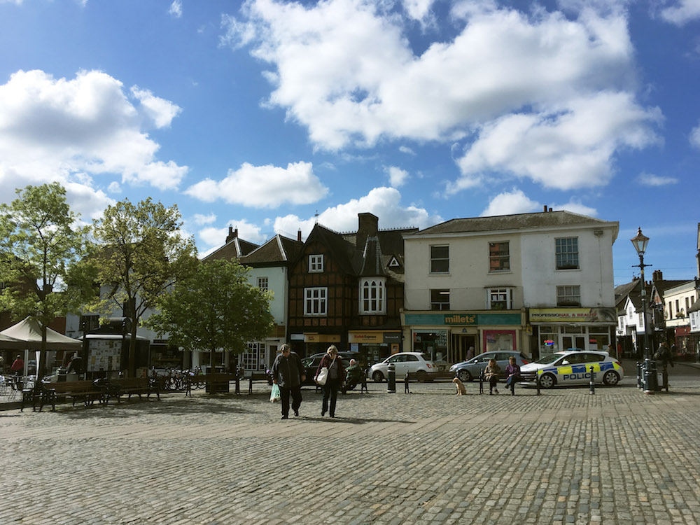 Charming market square in Hitchin, England. #hitchin #travel #engalnd