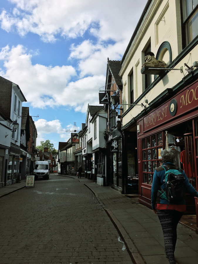 Beautiful street in Hitchin, England. This charming English town is an day trip from England!