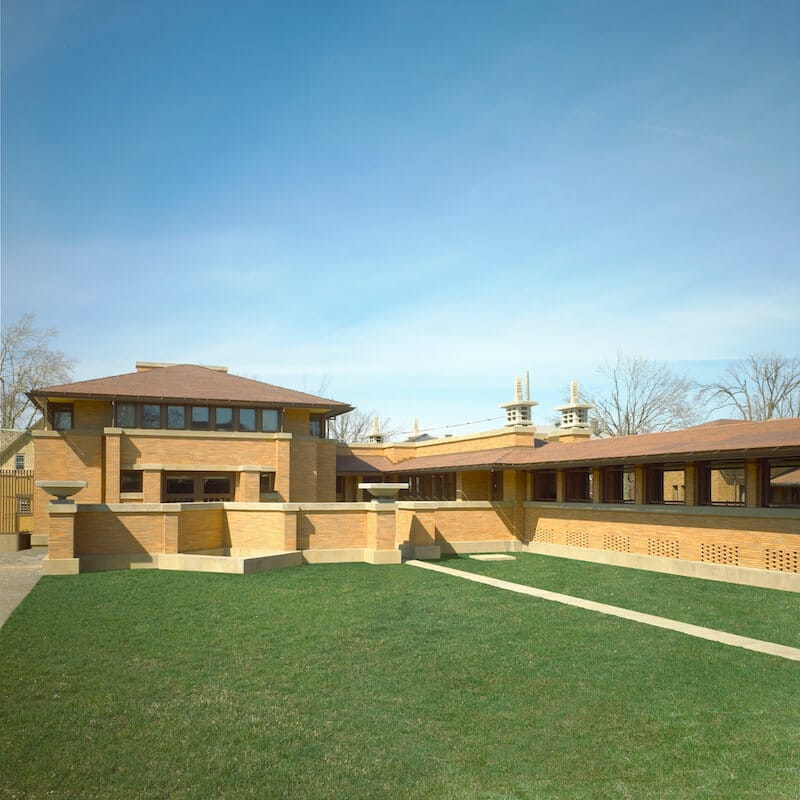Image by IMGINK/Visit Buffalo Niagara Falls. Darwin D. Martin House, one of Frank Lloyd Wright's works in Buffalo, is one of the best things to do in Buffalo. #buffalo