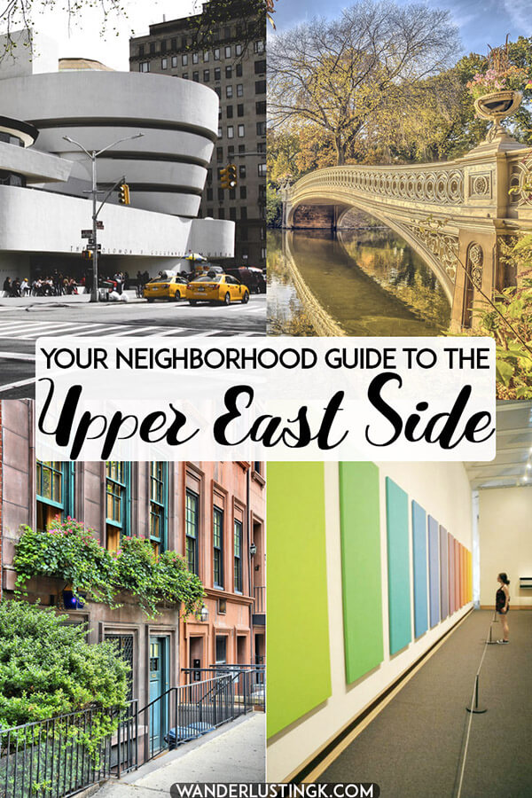 Your neighborhood guide to the Upper East Side in Manhattan, including the best things to do in the UES (including some of the best museums in NYC). Read insider tips for this chic neighborhood in New York City. #travel #NYC #NewYorkCity #Manhattan #UES