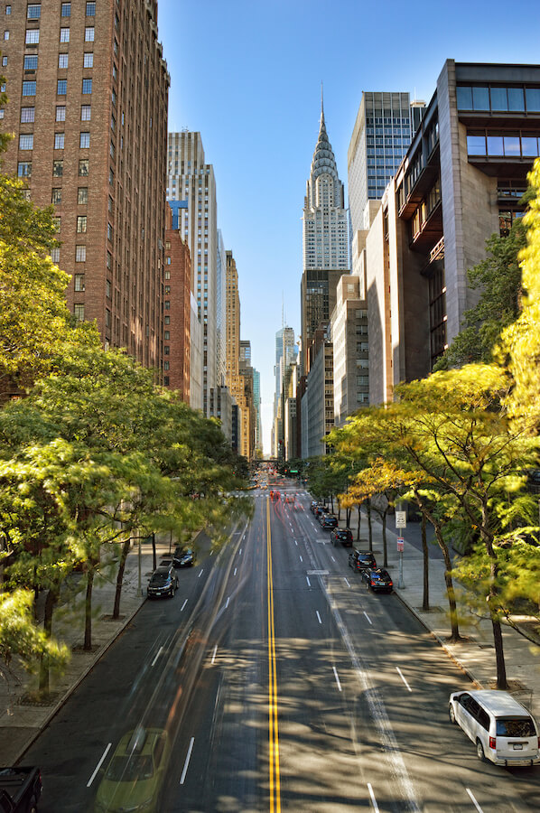 View of the Chrysler building, one of the stunning pieces of architecture that you'll see in New York. Read your perfect New York City itinerary written by a New Yorker! #NYC #travel