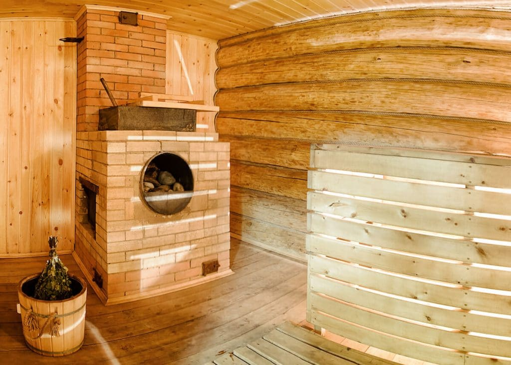 A beautiful Russian banya, a traditional Russian sauna. Read what happens at a Russian spa! #russia