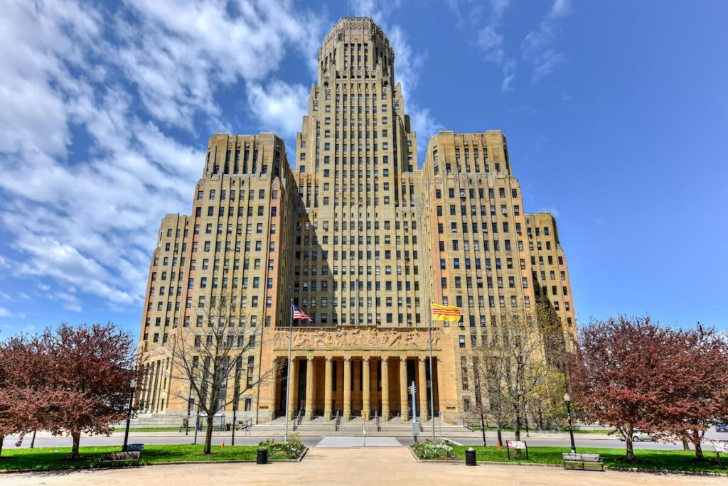 Photo of Buffalo City Hall, one of the most beautiful art deco buildings in Buffalo, NY. Read about the best things to do in Buffalo, NY.