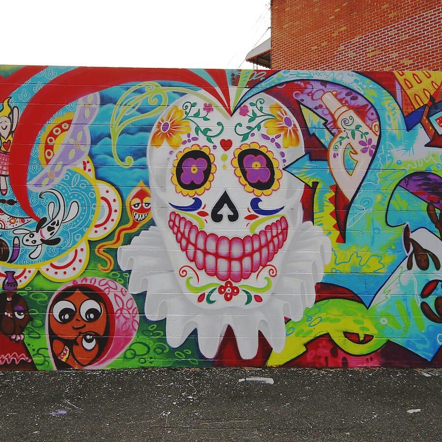 Mural at Wellington Court, an open air art gallery in Astoria, Queens. #streetart #graffiti #NYC #Queens