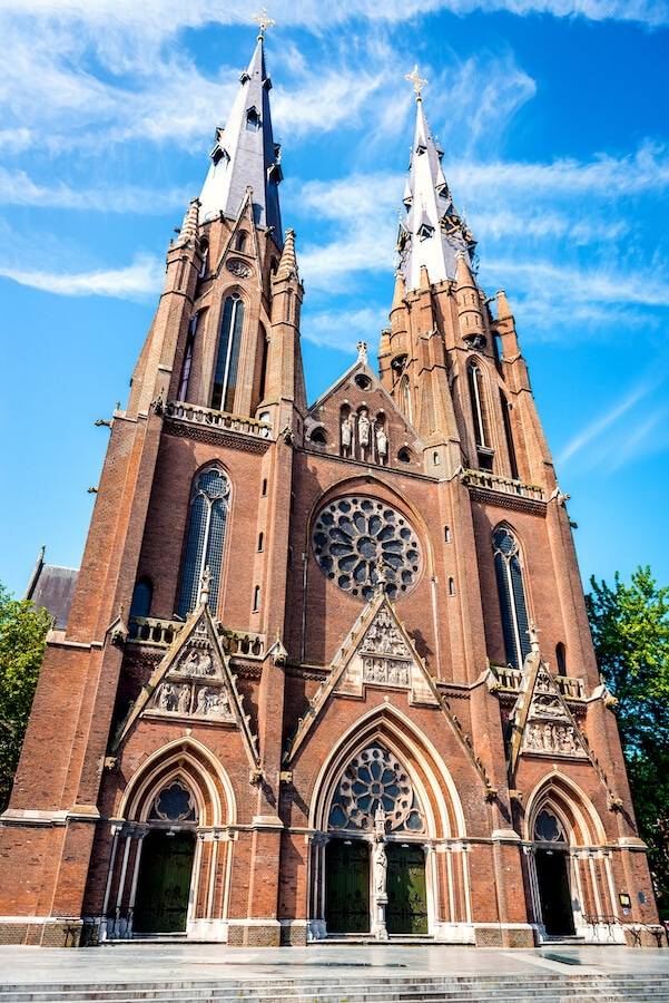 Sint Catharinakerk, one of the churches in Eindhoven, the Netherlands. This modern Dutch city has many things to do in! #eindhoven #netherlands