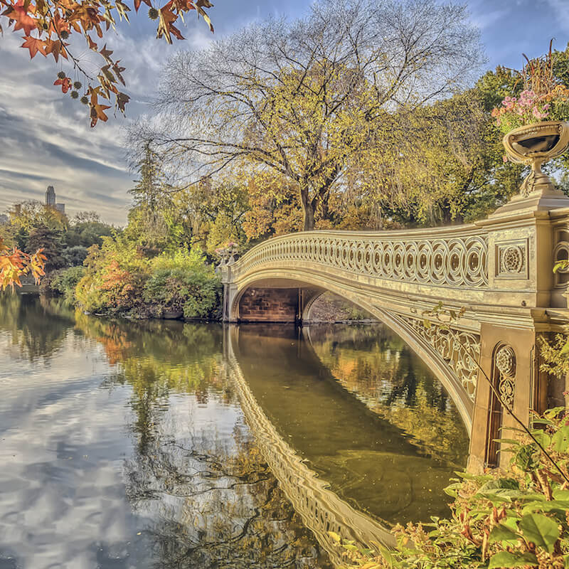 The Bow Bridge in Central Park. If you're visiting Manhattan, the Upper East Side is just next to Central Park! #travel #NYC