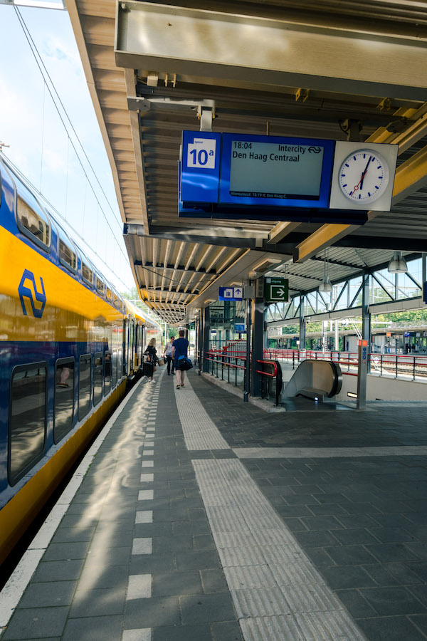 Train in the Netherlands. Read tips for finding discount train tickets in the Netherlands! #travel #netherlands #trains