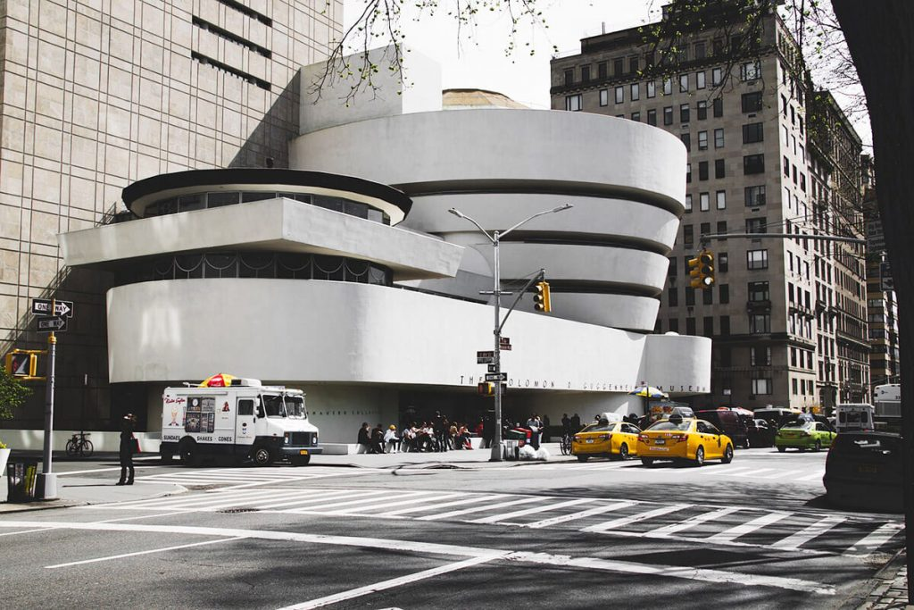 The famous Guggenheim Museums, one of the best museums on the UES