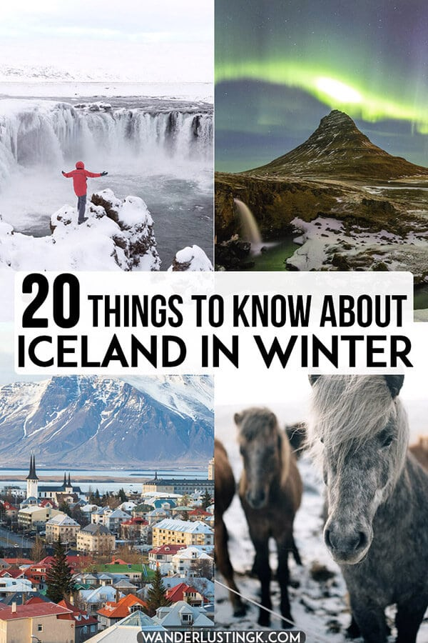 Planning a trip to Iceland in winter? Twenty essential tips to know about planning your trip to Iceland specific to traveling to Iceland during the coldest part of the year! #iceland #europe #travel