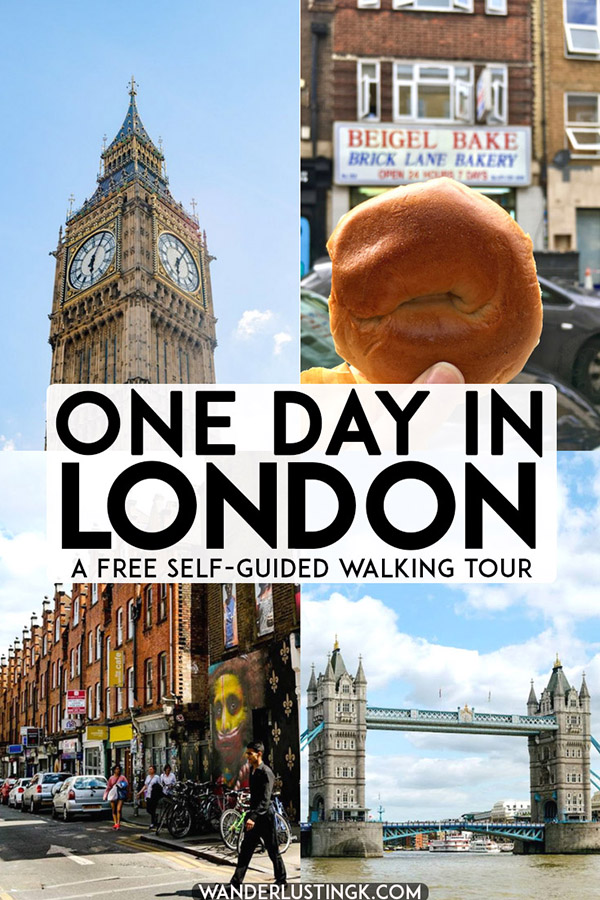Only have one day in London? A free self guided walking tour of London covering the main attractions in London on foot to see the best of London in one day. #london #UK #england #travel