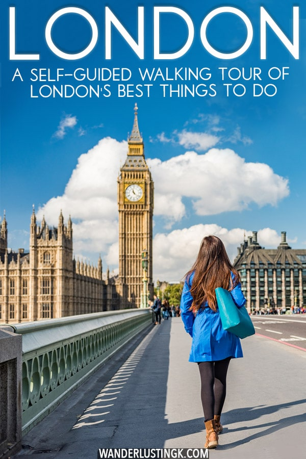 Figuring out what to do in London? Spend one day in London on foot! Follow this free self-guided walking tour of London to see the best things to do in London. #UK #London #travel #England