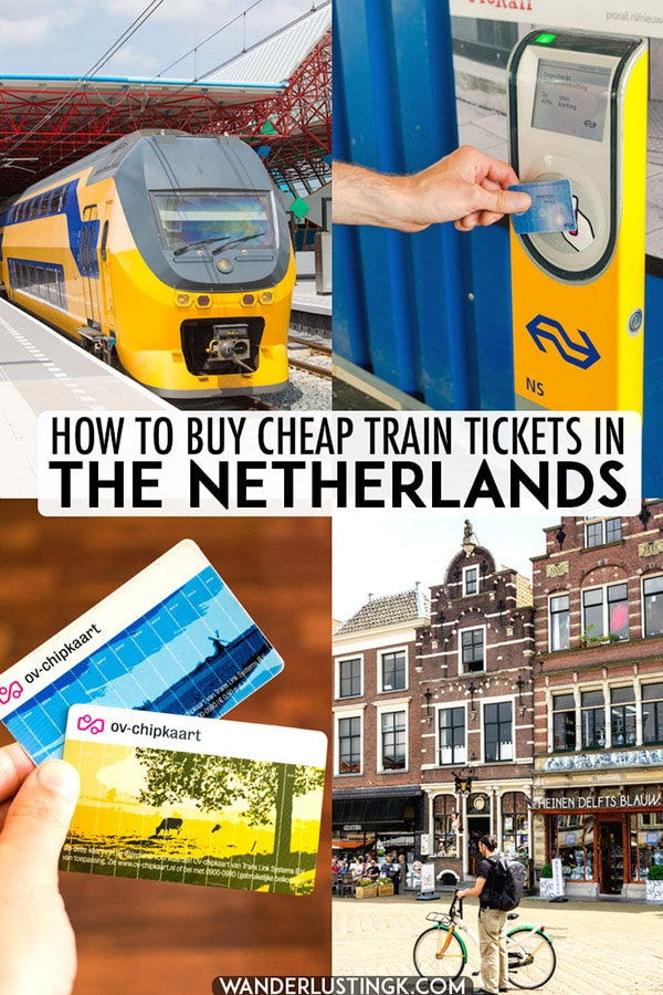 Planning to travel by train in the Netherlands? Insider tips to buy cheap train tickets in the Netherlands for tourists and residents. #travel #netherlands #trains #amsterdam