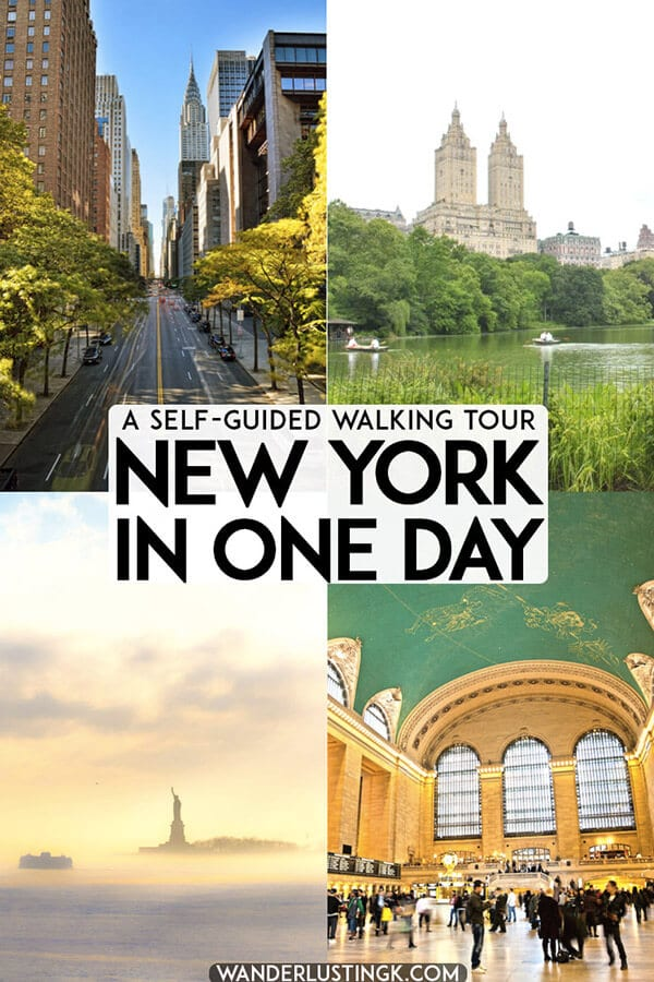 Only have one day in New York City? Follow this self-guided walking tour of Manhattan (with subway breaks) written by a native New Yorker to see the best of New York in one day. #travel #NYC #NewYork