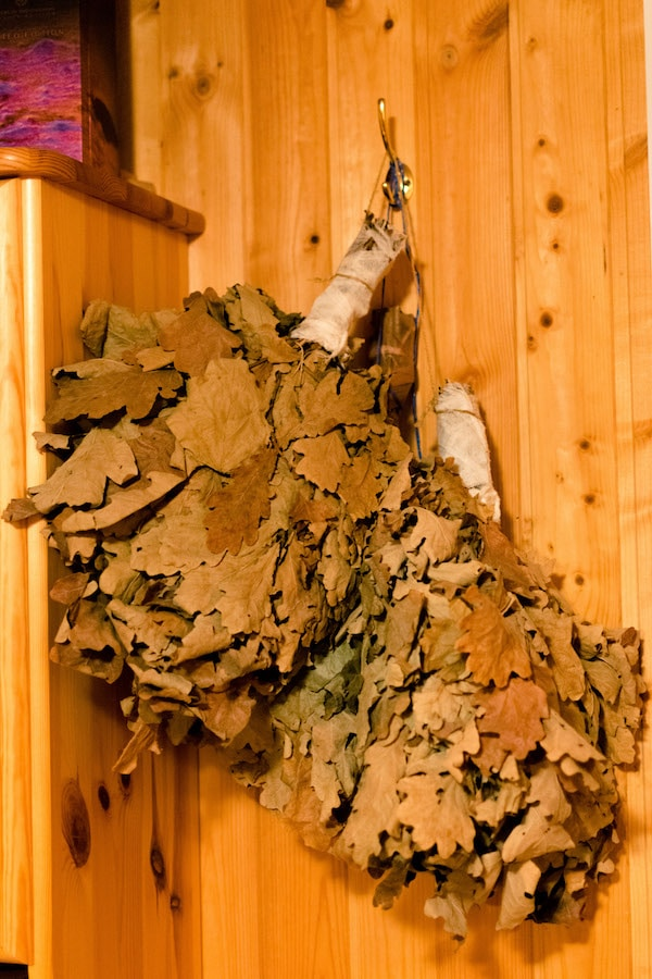 Branches used as part of the Russian spa experience! #russia #travel