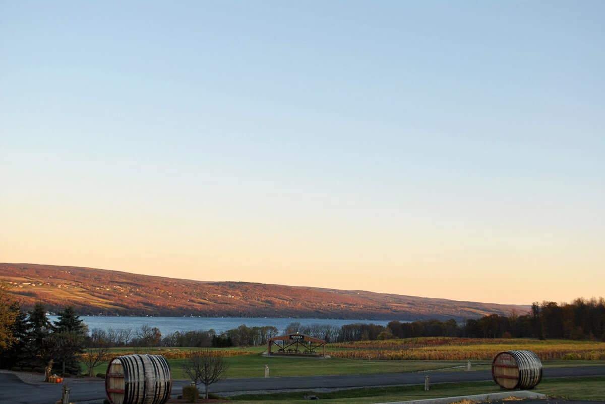 Beautiful view near Glenora Winery along Seneca Lake, one of the wine trails in the Finger Lakes region of New York State. #wine #NY #travel #fingerlakes
