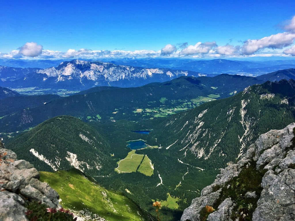 Viewpoint of Mangart, one of the tallest mountains in Slovenia.