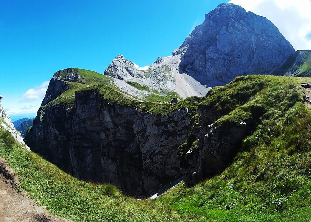 Beautiful view of Mangart, one of Slovenia's most adventurous destinations to visit!